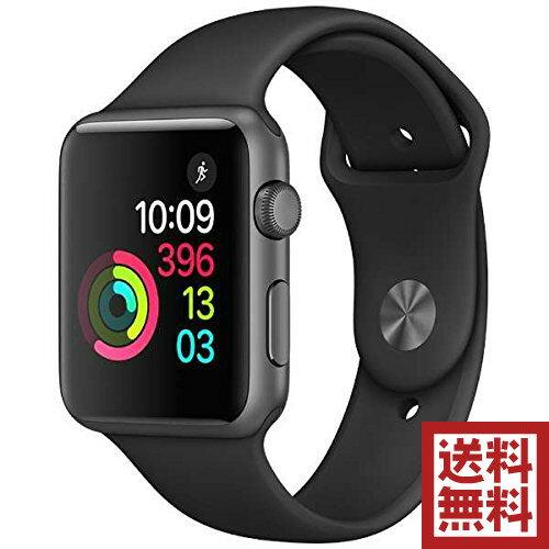 アップルウォッチ 本体 Apple Watch Series 1 42mm スペースグレイアルミニウムケースとブラックスポーツバンド MP032J/A