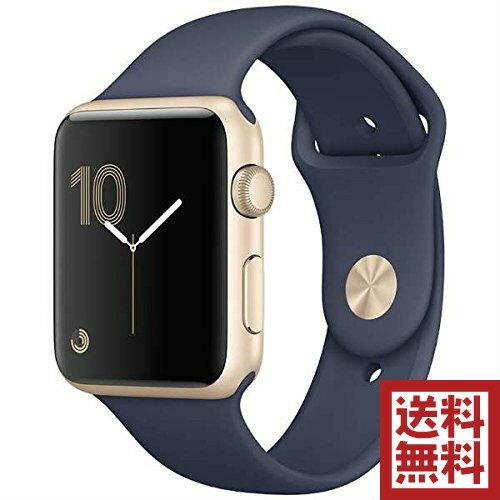アップルウォッチ 本体 Apple Watch Series 1 42mm ゴールドアルミニウムケースとミッドナイトブルースポーツバンド シリーズ1 MQ122J/A