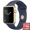 Apple Watch アップルウォッチ 本体 Apple Watch Series 2 42mm ゴールドアルミニウムケースとミッドナイトブルースポーツバンド シリ…