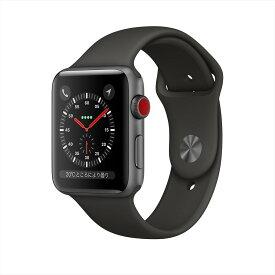 アップルウォッチ 本体 Apple Watch Series 3 38mm スペースグレイアルミニウムケースとブラックスポーツバンド シリーズ3 (GPS + Cellularモデル)MTGP2J/A MTGP2JA