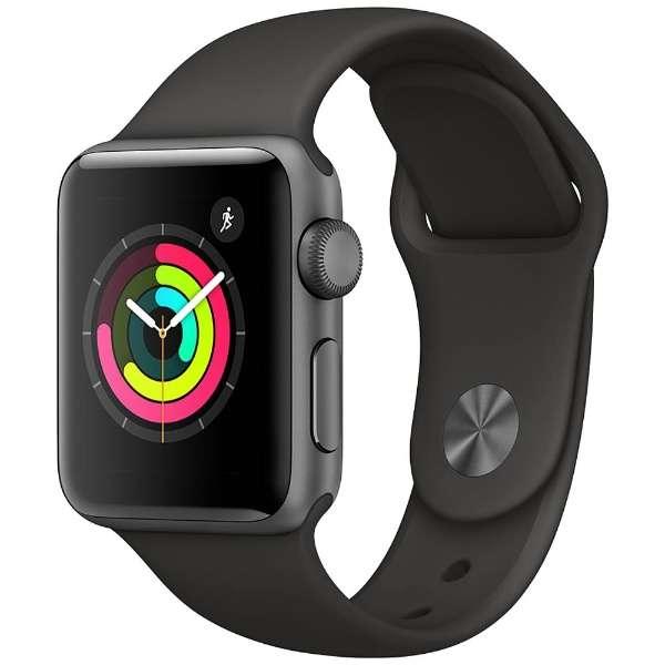 アップルウォッチ 本体 Apple Watch Series 3 42mm スペースグレイアルミニウムケースとブラックスポーツバンド シリーズ3 (GPSモデル)