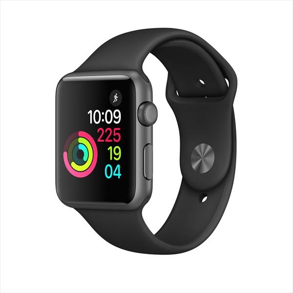 アップルウォッチ 本体 Apple Watch Series 1 42mm スペースグレイアルミニウムケースとブラックスポーツバンド MP032J/A MP032JA