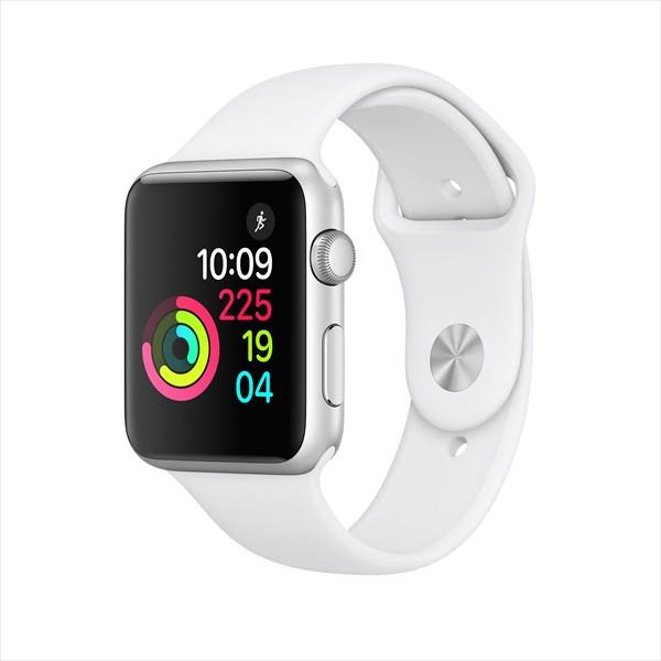アップルウォッチ 本体 Apple Watch Series 1 38mm シルバーアルミニウムケースとホワイトスポーツバンド MNNG2J/A