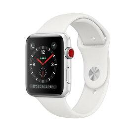 アップルウォッチ 本体 Apple Watch Series 3 38mm シルバーアルミニウムケースとホワイトスポーツバンド アップルウォッチ シリーズ3 (GPS+Cellularモデル)MTGN2J/A