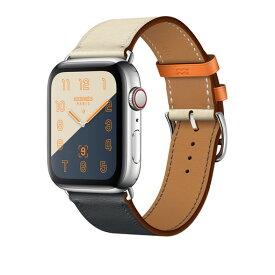Apple Watch Hermes Series 4(GPS + Cellular)44mm ステンレススチールケースとヴォー・スウィフト(インディゴ/クレ/オレンジ)シンプルトゥールレザーストラップ[アップルウォッチ エルメス シリーズ4] MU782J/A MU782JA