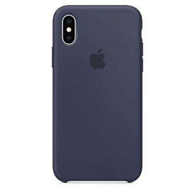 Apple(アップル)純正 iPhone XS(5.8インチ)シリコーンケース ミッドナイトブルー MRW92FE/A MRW92FEA