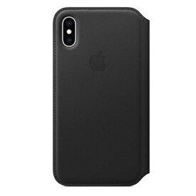 Apple(アップル) 純正 iPhone XS 5.8インチ レザーフォリオ ブラック MRWW2FE/A MRWW2FEA