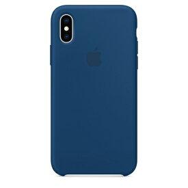 Apple(アップル)純正 iPhone XS(5.8インチ)シリコーンケース ブルーホライゾン MTF92FE/A MTF92FEA