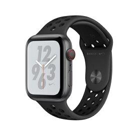 Apple Watch Nike+ Series 4(GPS + Cellular)44mm スペースグレイアルミニウムケースとアンスラサイト/ブラックNikeスポーツバンド[アップルウォッチ ナイキ シリーズ4] MTXM2J/A MTXM2JA