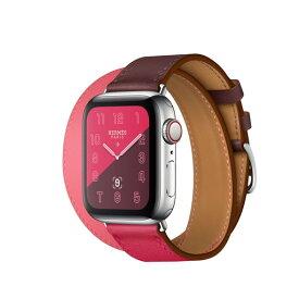 Apple Watch Hermes Series 4(GPS + Cellular)40mm ステンレススチールケースとヴォー・スウィフト(ボルドー/ローズ・エクストレーム/ローズ・アザレ)ドゥブルトゥールレザーストラップ[アップルウォッチ エルメス シリーズ4] MU732J/A