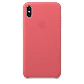 Apple(アップル)純正 iPhone XS Max(6.5インチ)レザーケース ピオニーピンク MTEX2FE/A MTEX2FEA