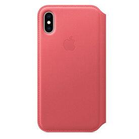 Apple(アップル) 純正 iPhone XS 5.8インチ レザーフォリオ ピオニーピンク MRX12FE/A MRX12FEA