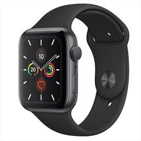 Apple Watch Series 5(GPSモデル)44mmスペースグレイアルミニウムケースとブラックスポーツバンド MWVF2J/A アップルウォッチ シリーズ5