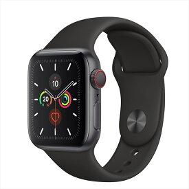 Apple Watch Series 5(GPS + Cellularモデル)40mmスペースグレイアルミニウムケースとブラックスポーツバンド S/M & M/L MWX32J/A アップルウォッチ シリーズ5