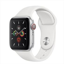 Apple Watch Series 5(GPS + Cellularモデル)40mmシルバーアルミニウムケースとスポーツバンド MWX12J/A アップルウォッチ シリーズ5