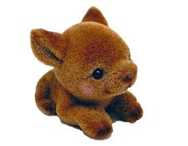 アニマルペーパーウェイト シカマスコット*約30g〜40g程度の重さの、フワフワとした毛が愛らしいマスコット。[動物置物 文具雑貨 動物グッズ 可愛い ペーパーウェイト]