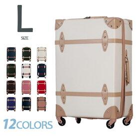 Lサイズ スーツケース トランクケース キャリーケース キャリーバッグ 一年間保証 TSAロック搭載 軽量 7日〜14日用 大型 かわいい suitcase TANOBI FUPP01