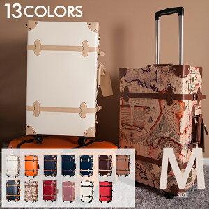 【10%OFFクーポン!】Mサイズ スーツケース 女性 キャリーケーストランク キャリーバッグ かわいい一年間保証 4日〜7日用旅行用品中型 軽量 suitcase FUPP03