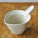 〜 産地の手仕事 【TOJIKI TONYA】 〜 これは便利!!納豆鉢 ホワイト 和食器/すり鉢