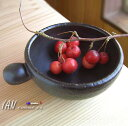 産地の手仕事 【TOJIKI TONYA】 〜 とっても持ちやすい 〜 こぶし 耐熱小鉢 (黒)  カフェ食器/業務用/洋食器/小鉢/グラタン