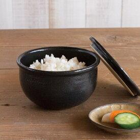 おひつ一膳 黒 /TOJIKITONYA/耐熱食器/オーブンok/おひつ