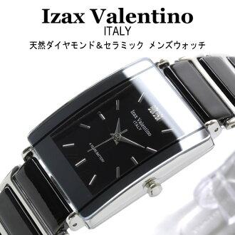 Izax 华伦天奴撒 Valentin 天然钻石 x 陶瓷用于手腕看黑色妊娠-8500-2