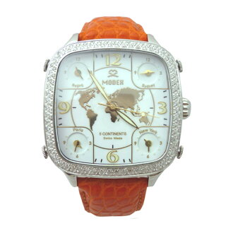 MODEX modekkusu/瑞士製造最高級鑽石女士手錶5continents Top ring