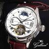 GALLUCCI garuchi手錶太陽&月亮WT23388AU-SSWH