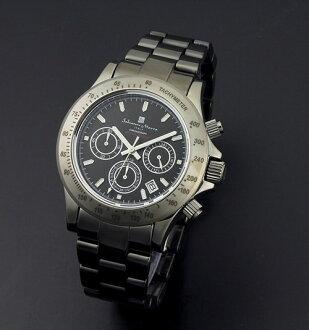 Model sm12117-bk watch sm12117-bk of the 10th anniversary of watch men chronograph watch Salvatore Mara SalvatoreMarra