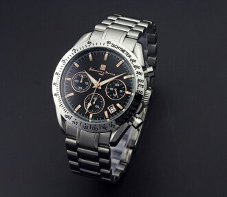Watch men popularity brand Salvatore Marra SM12135-SSPGBK