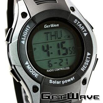 GETWAVE手錶電波太陽能太陽能電波太陽能電波MJW0009-GM1人雙重時間