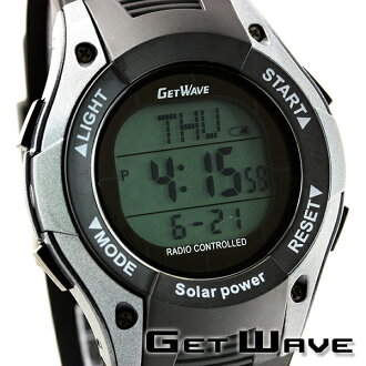 GETWAVE手表电波太阳能太阳能电波太阳能电波MJW0009-GM1人双重时间