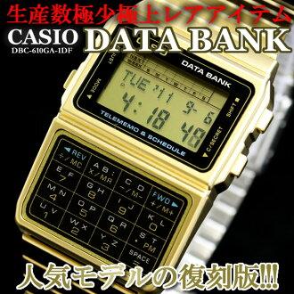 男子的卡西欧手表数据库黄金DBC-610GA-1DF CASIO