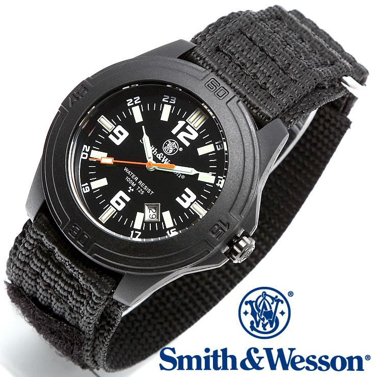 [正規品] スミス&ウェッソン Smith & Wesson ミリタリー腕時計 SOLDIER WATCH NYLON STRAP BLACK SWW-12T-N [あす楽] [ラッピング無料] [送料無料] [雑誌掲載ブランド]