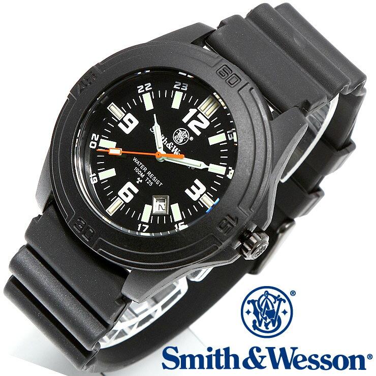[正規品] スミス&ウェッソン Smith & Wesson ミリタリー腕時計 SOLDIER WATCH RUBBER STRAP BLACK SWW-12T-R [あす楽] [ラッピング無料] [送料無料] [雑誌掲載ブランド]