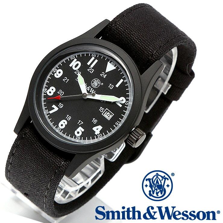 [正規品] スミス&ウェッソン Smith & Wesson ミリタリー腕時計 MILITARY WATCH BLACK SWW-1464-BK [あす楽] [ラッピング無料] [送料無料] [雑誌掲載ブランド]