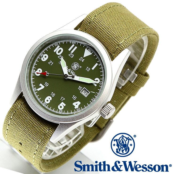 [正規品] スミス&ウェッソン Smith & Wesson ミリタリー腕時計 MILITARY WATCH OLIVE DRAB SWW-1464-OD [あす楽] [ラッピング無料] [送料無料] [雑誌掲載ブランド]