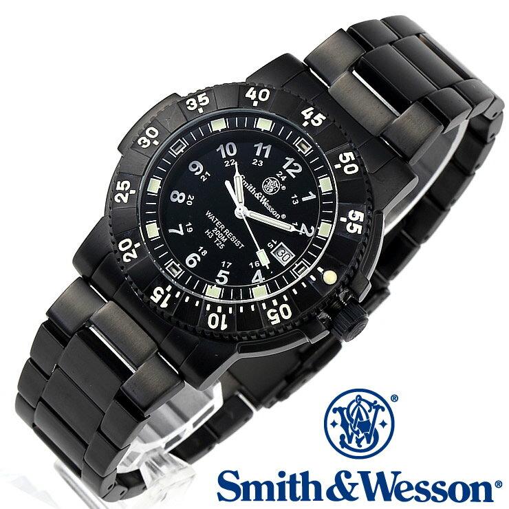[正規品] スミス&ウェッソン Smith & Wesson スイス トリチウム ミリタリー腕時計 SWISS TRITIUM 357 SERIES COMMANDER WATCH BLACK SWW-357-BSS [あす楽] [ラッピング無料] [送料無料] [雑誌掲載ブランド]