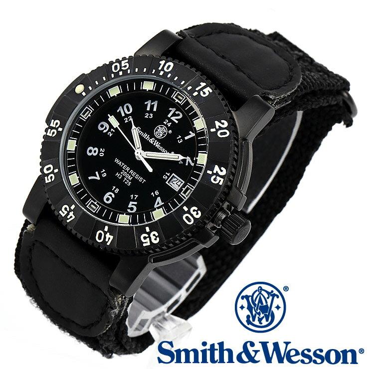[正規品] スミス&ウェッソン Smith & Wesson スイス トリチウム ミリタリー腕時計 SWISS TRITIUM 357 SERIES TACTICAL WATCH NYLON BLACK SWW-357-N [あす楽] [ラッピング無料] [送料無料] [雑誌掲載ブランド]