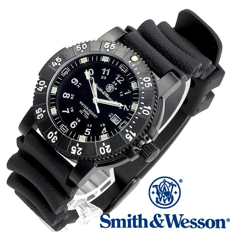 [正規品] スミス&ウェッソン Smith & Wesson スイス トリチウム ミリタリー腕時計 SWISS TRITIUM 357 SERIES DIVER WATCH RUBBER BLACK SWW-357-R [あす楽] [ラッピング無料] [送料無料] [雑誌掲載ブランド]