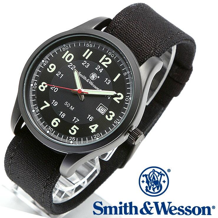 [正規品] スミス&ウェッソン Smith & Wesson ミリタリー腕時計 CADET WATCH BLACK/GREEN SWW-369-GR [あす楽] [ラッピング無料] [送料無料] [雑誌掲載ブランド]