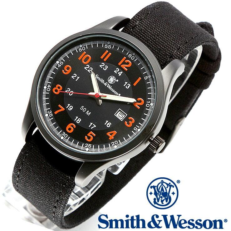 [正規品] スミス&ウェッソン Smith & Wesson ミリタリー腕時計 CADET WATCH BLACK/ORANGE SWW-369-OR [あす楽] [ラッピング無料] [送料無料] [雑誌掲載ブランド]