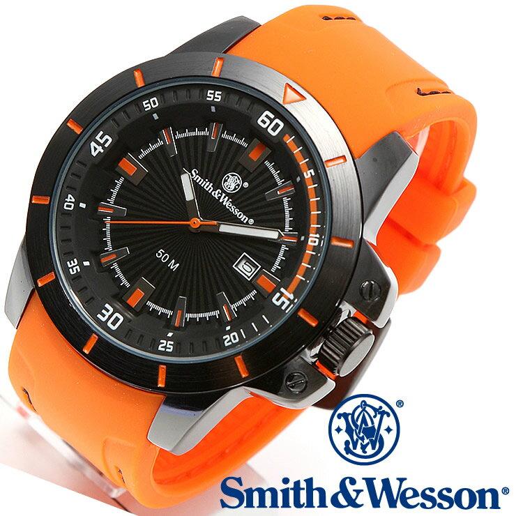 [正規品] スミス&ウェッソン Smith & Wesson ミリタリー腕時計 TROOPER WATCH ORANGE/BLACK SWW-397-OR [あす楽] [ラッピング無料] [送料無料] [雑誌掲載ブランド]