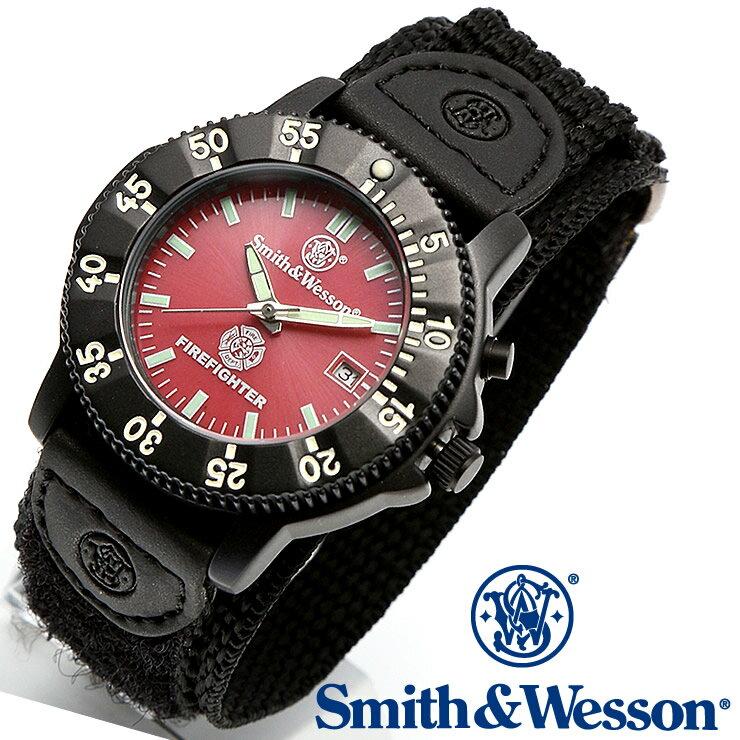 [正規品] スミス&ウェッソン Smith & Wesson ミリタリー腕時計 455 FIRE FIGHTER WATCH RED/BLACK SWW-455F [あす楽] [ラッピング無料] [送料無料] [雑誌掲載ブランド]