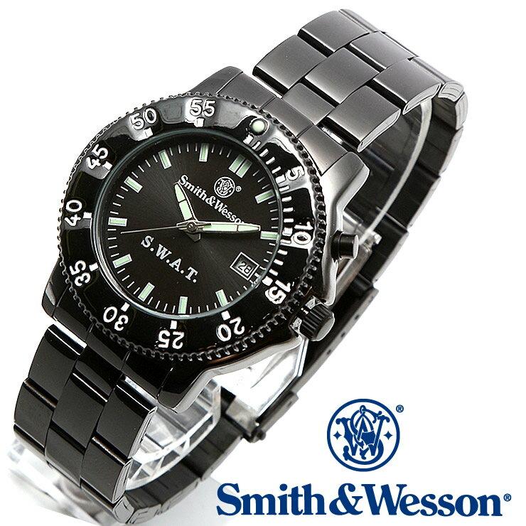 [正規品] スミス&ウェッソン Smith & Wesson ミリタリー腕時計 SWAT WATCH BLACK SWW-45M [あす楽] [ラッピング無料] [送料無料] [雑誌掲載ブランド]