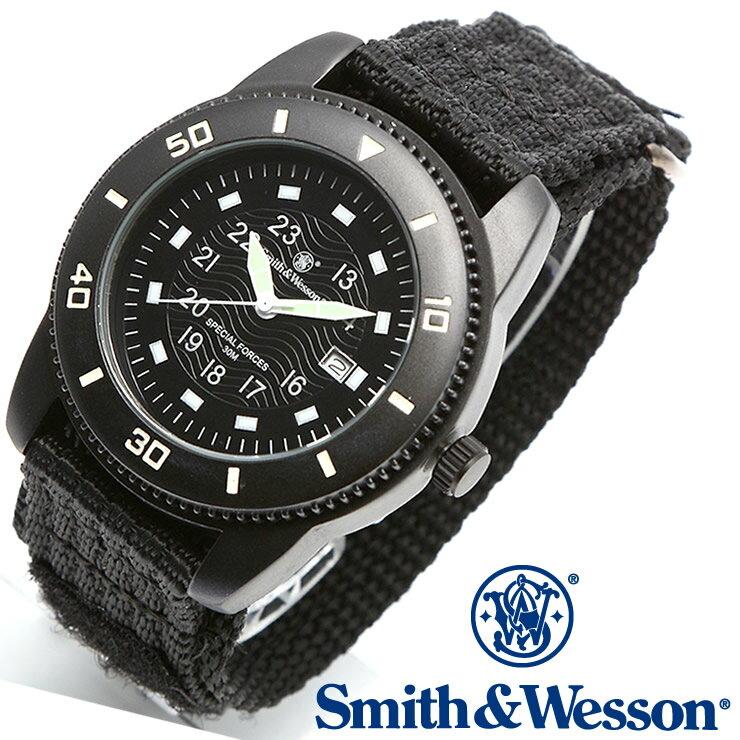 [正規品] スミス&ウェッソン Smith & Wesson ミリタリー腕時計 COMMANDO WATCH BLACK SWW-5982 [あす楽] [ラッピング無料] [送料無料] [雑誌掲載ブランド]