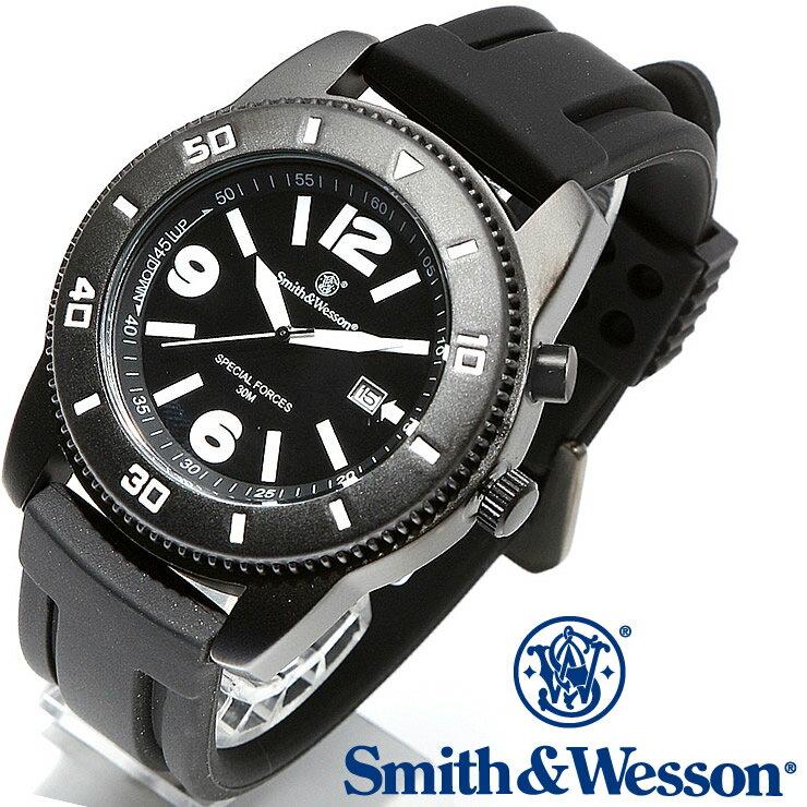 [正規品] スミス&ウェッソン Smith & Wesson ミリタリー腕時計 PARATROOPER WATCH BLACK SWW-5983 [あす楽] [ラッピング無料] [送料無料] [雑誌掲載ブランド]