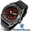 [正規品] スミス&ウェッソン Smith & Wesson ミリタリー腕時計 KNIVES WATCH BLACK/RED SWW-693-BK [あす楽] [送料無料] [雑誌掲載ブランド]