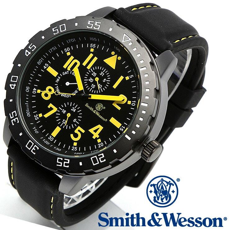 [正規品] スミス&ウェッソン Smith & Wesson ミリタリー腕時計 CALIBRATOR WATCH YELLOW/BLACK SWW-877-YW [あす楽] [ラッピング無料] [送料無料] [雑誌掲載ブランド]