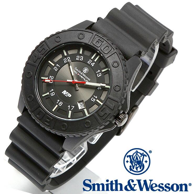 [正規品] スミス&ウェッソン Smith & Wesson スイス トリチウム ミリタリー腕時計 SWISS TRITIUM M&P WATCH BLACK/BLACK SWW-MP18-BLK [あす楽] [ラッピング無料] [送料無料] [雑誌掲載ブランド]
